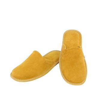 Γυναικείες καστόρινες παντόφλες Facile κίτρινο χρώμα