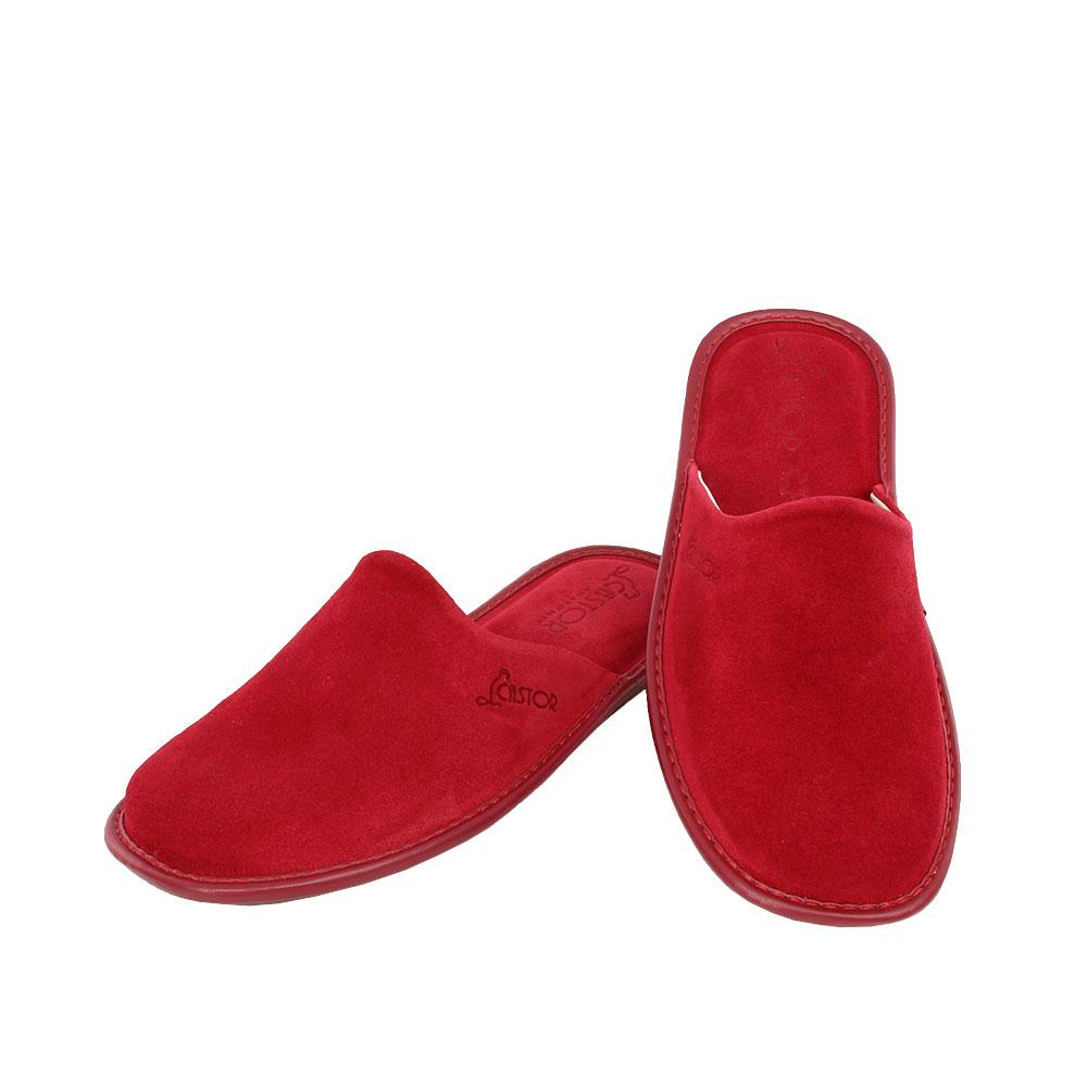 Γυναικείες καστόρινες παντόφλες Facile κόκκινο χρώμα