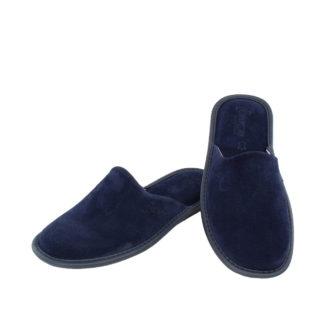 Γυναικείες καστόρινες παντόφλες Facile μπλε χρώμα