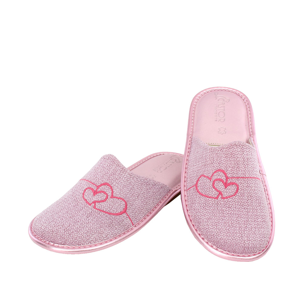Γυναικείες παντόφλες Αύρα ροζ χρώμα