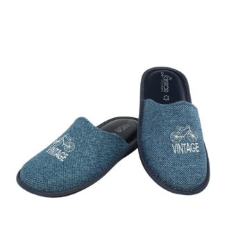 Men's slippers Vintage denim color