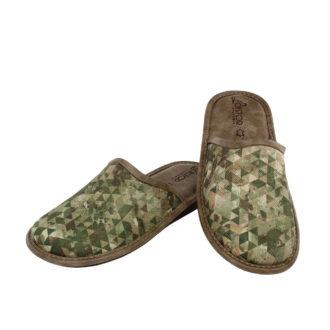 Men's slippers green camo