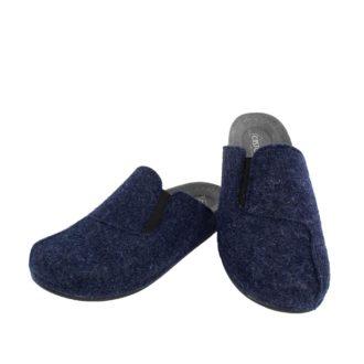 Ανδρικές παντόφλες Λίνος μπλε χρώμα