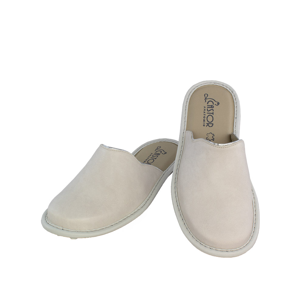 Women's slippers Dioni white color