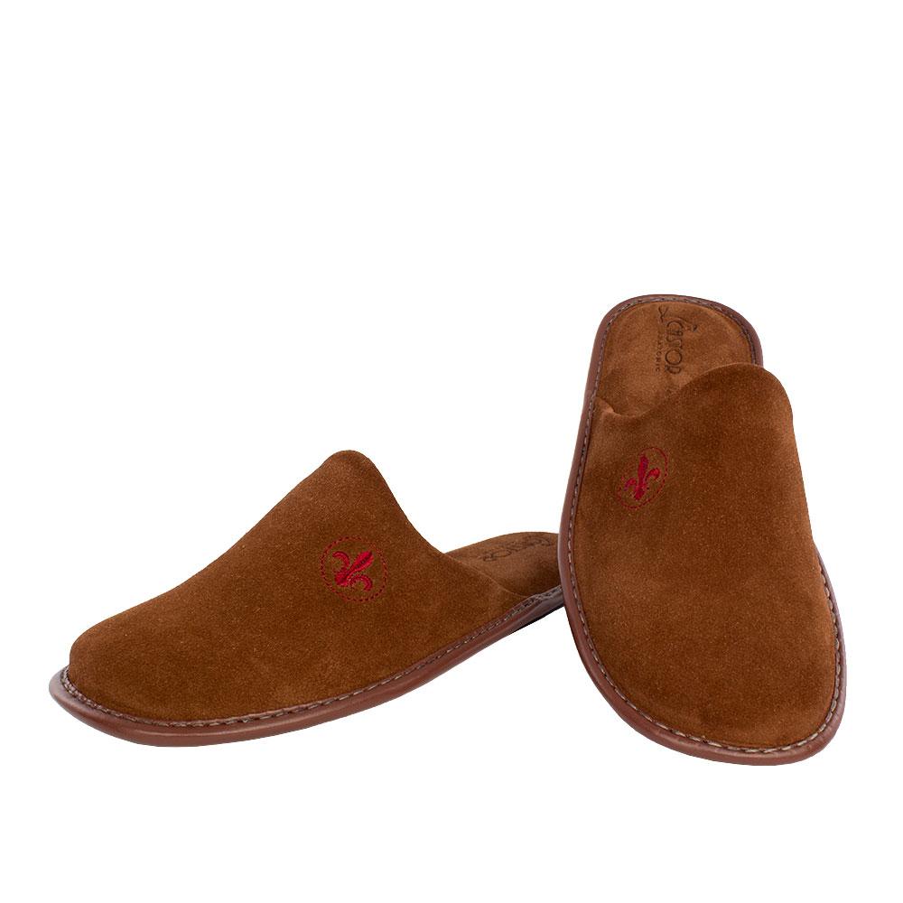 Men's suede slippers Sinon tan color