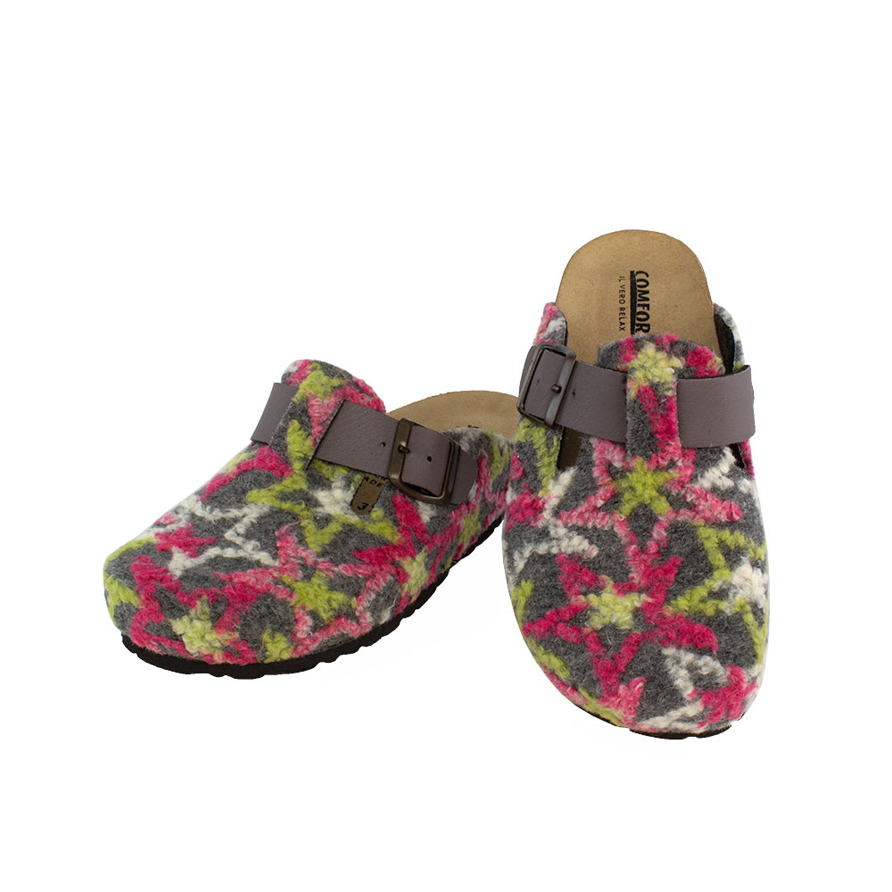 Women's slippers Errika gray color