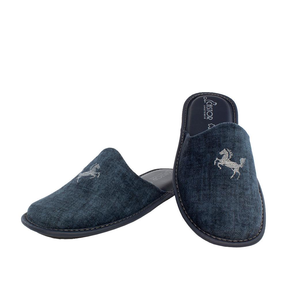 Ανδρικές παντόφλες Ίππος μπλε χρώμα