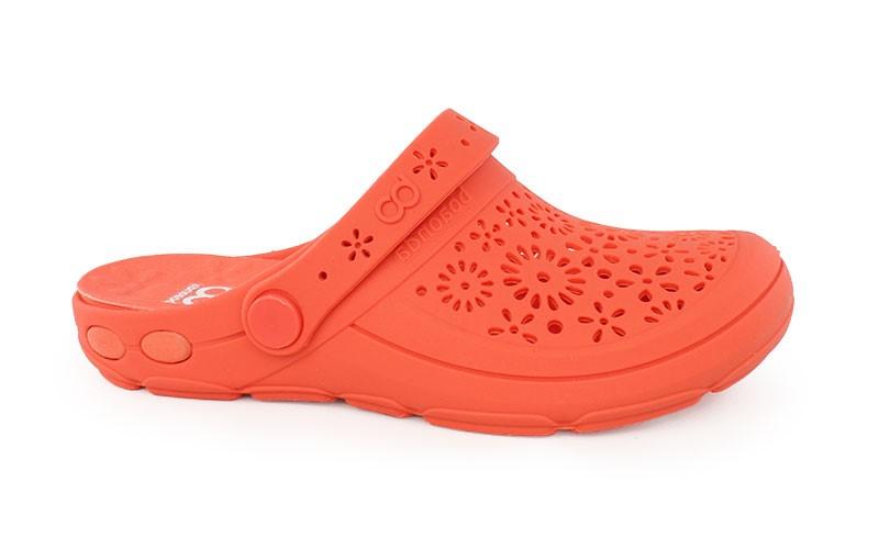 Γυναικεία ανατομικά σαμπό Nellie πορτοκαλί χρώμα