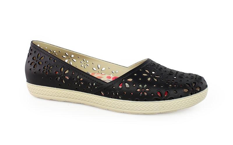 Γυναικεία παπούτσια Monica μαύρο χρώμα