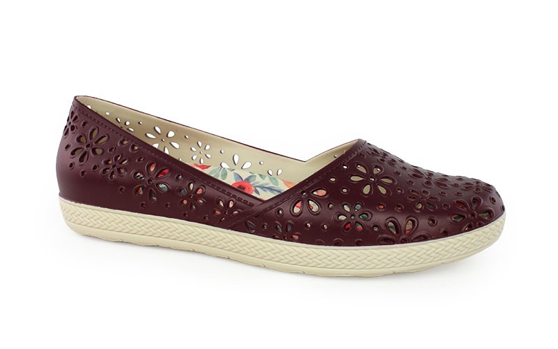 Γυναικεία παπούτσια Monica μπορντό χρώμα