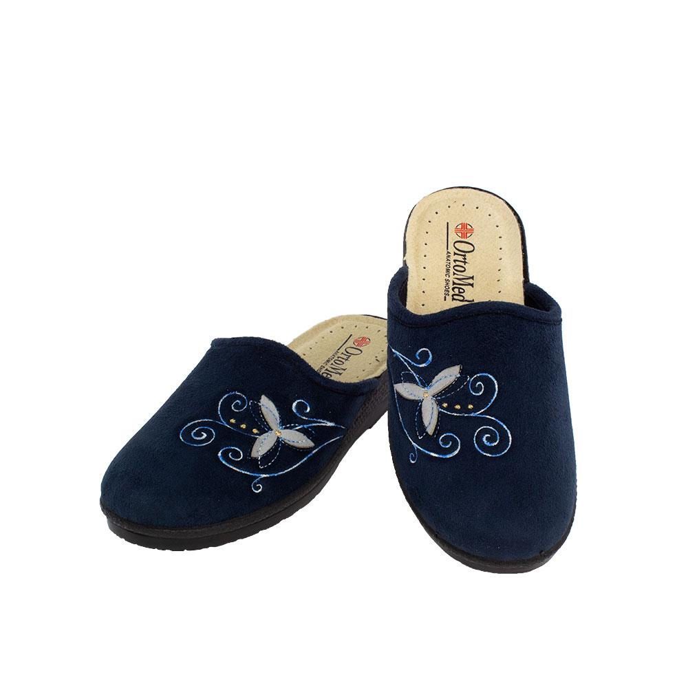 Women's fabric slippers Agathi blue