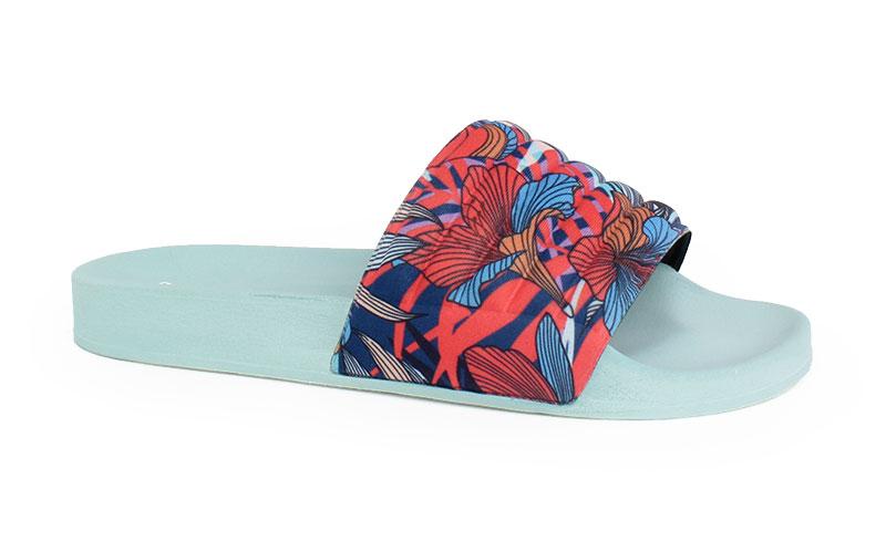Γυναικείες παντόφλες Amaryllis σιέλ χρώμα