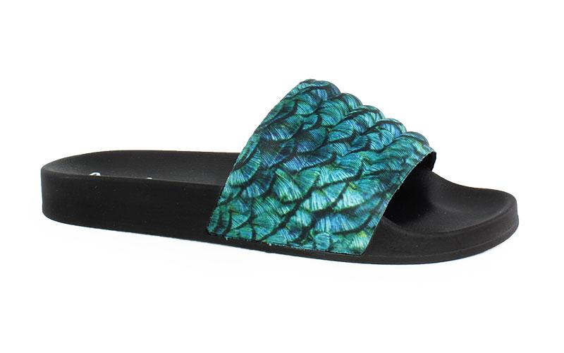 Γυναικείες παντόφλες Anemone μαύρο χρώμα