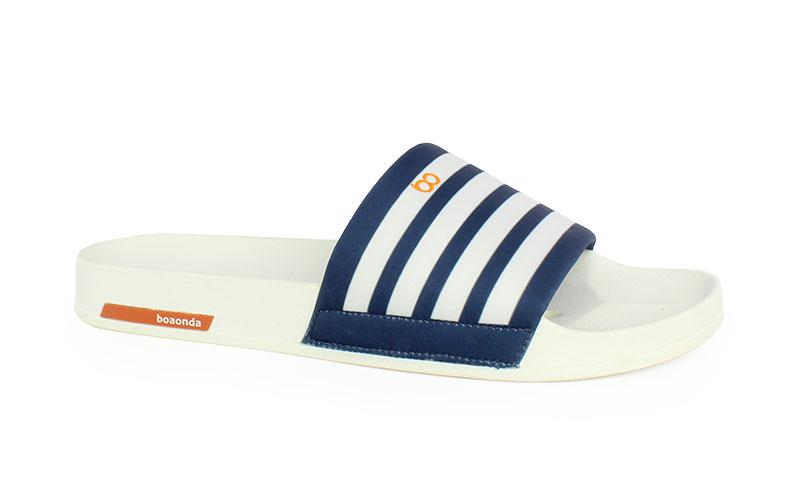 Ανδρικές παντόφλες Stripes λευκό χρώμα