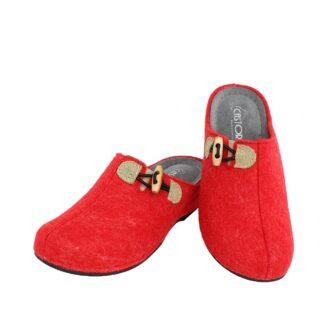 Γυναικείες παντόφλες Λωτός κόκκινο χρώμα