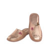 Γυναικείες δερμάτινες παντόφλες 1060.3 Love ροζχρυσό