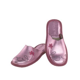 Γυναικείες δερμάτινες παντόφλες 1060.3 Love ροζ