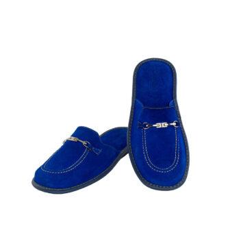 Γυναικείες καστόρινες παντόφλες 1063 Διδώ μπλε