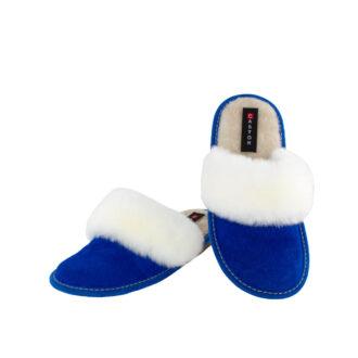 Γυναικείες καστόρινες παντόφλες 3115 Ανθεμις μπλε