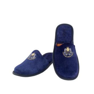 Ανδρικές καστόρινες παντόφλες 4607 Διογένης μπλε