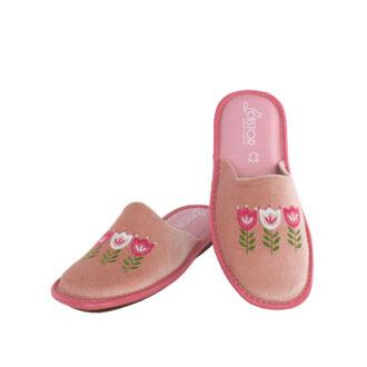 Γυναικείες παντόφλες 5504 Μαγνόλια ροζ χρώμα