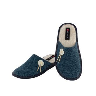Γυναικείες παντόφλες 5658.Γ Πετούνια μπλε χρώμα